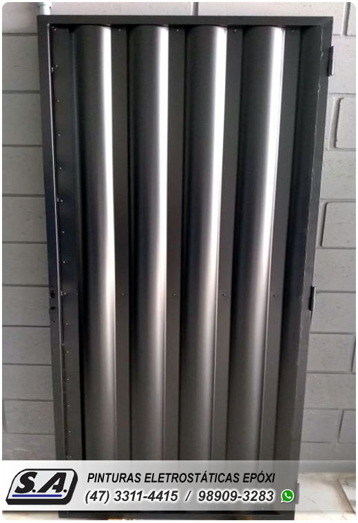 pintura eletrostática gaspar ilhota tijucas portão portões de garagem ferro portas grades metal esquadria de aluminio preço barata